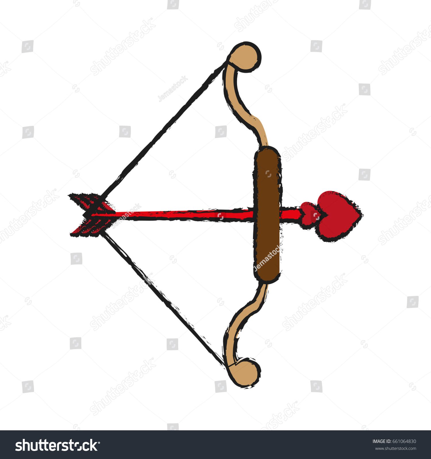 Bow Arrow Ove Valentines Day Related Stock Vector Royalty Free