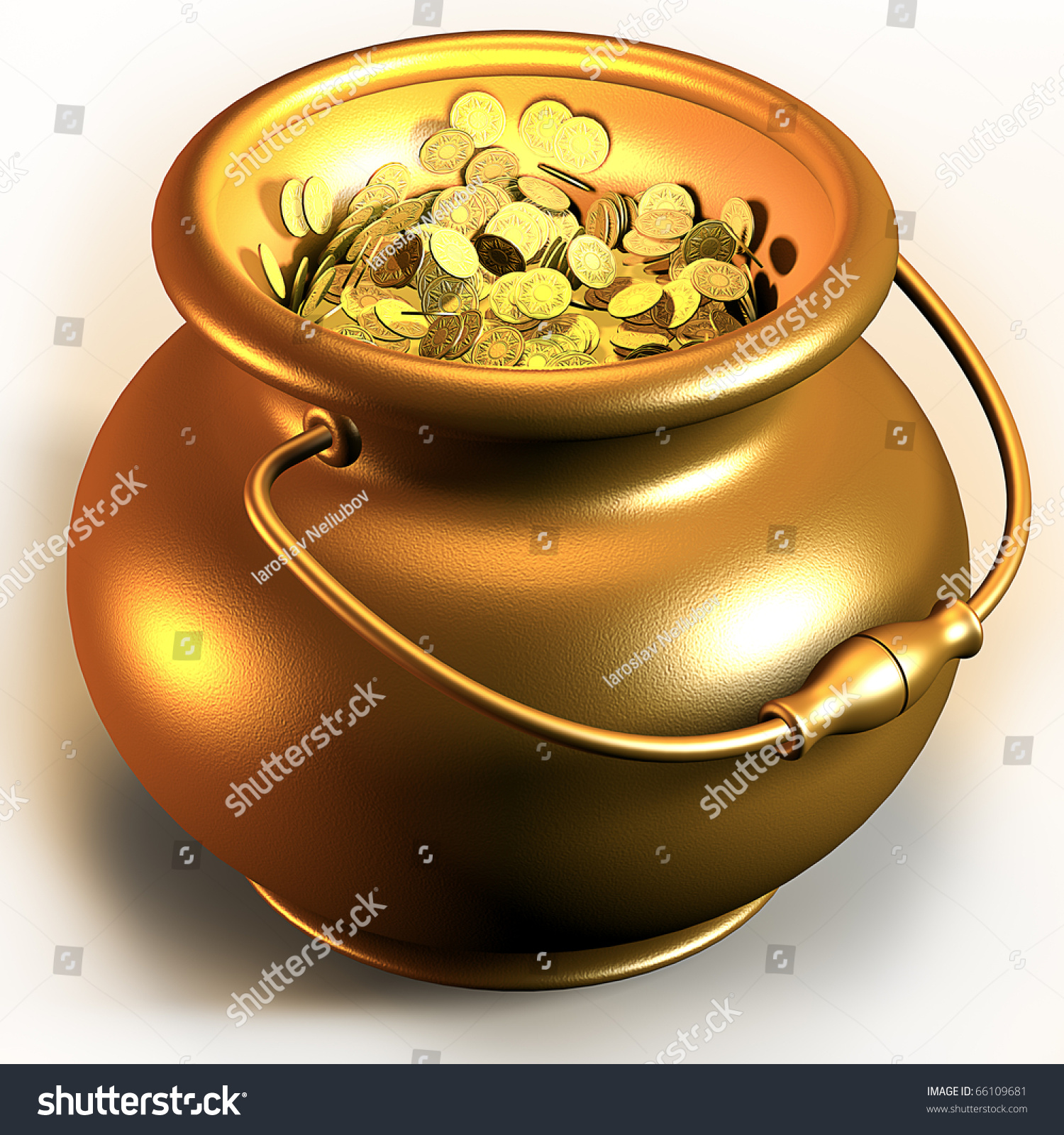 how to make a 3d pot of gold