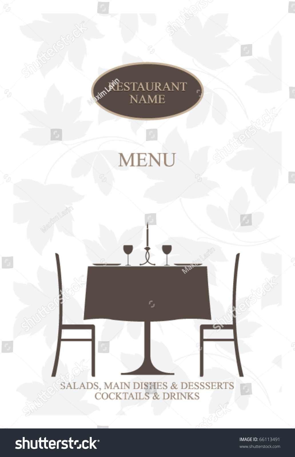 Vector restaurant menu design stock