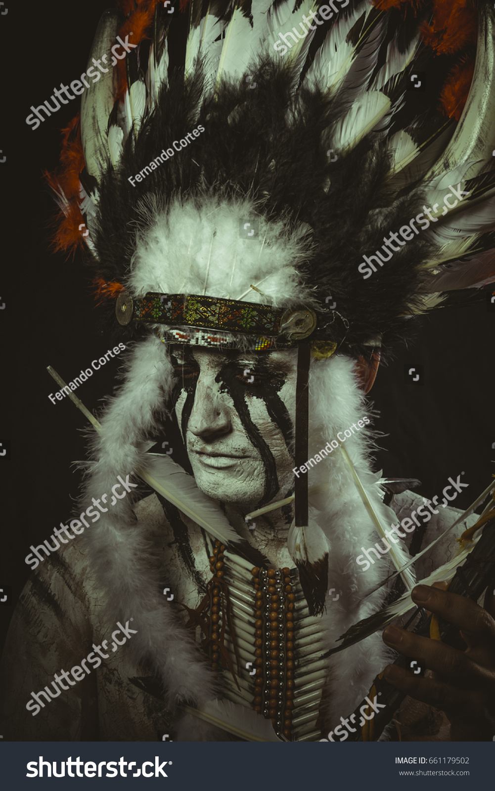 aboriginal american indian plume feathers ax stock photo 661179502