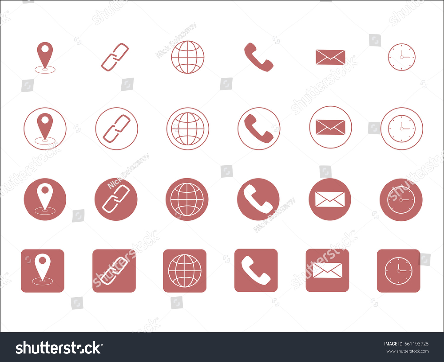 Vector business card contact information icons stock vector vector business card contact information icons magicingreecefo Gallery
