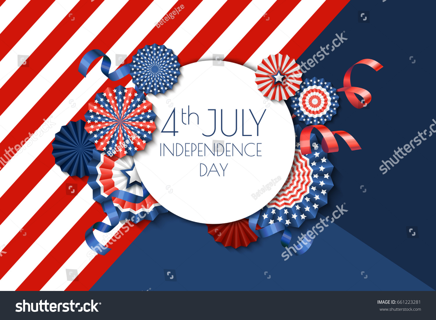 4th july usa independence day vector stock vector 661223281