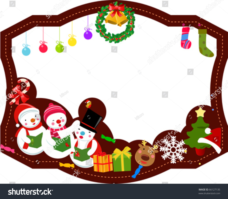 Merry Christmas Frame Stock Vector 66127135 - Shutterstock