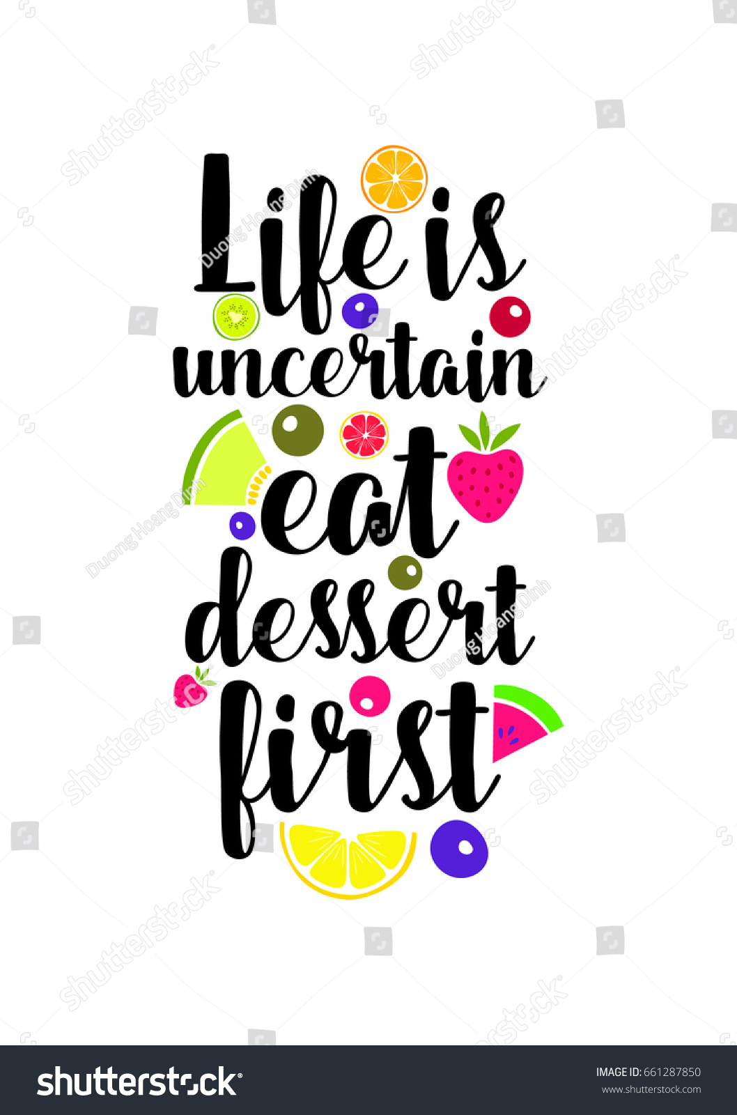 Quote Typographical About Food Template Business Stock Photo (Photo ...