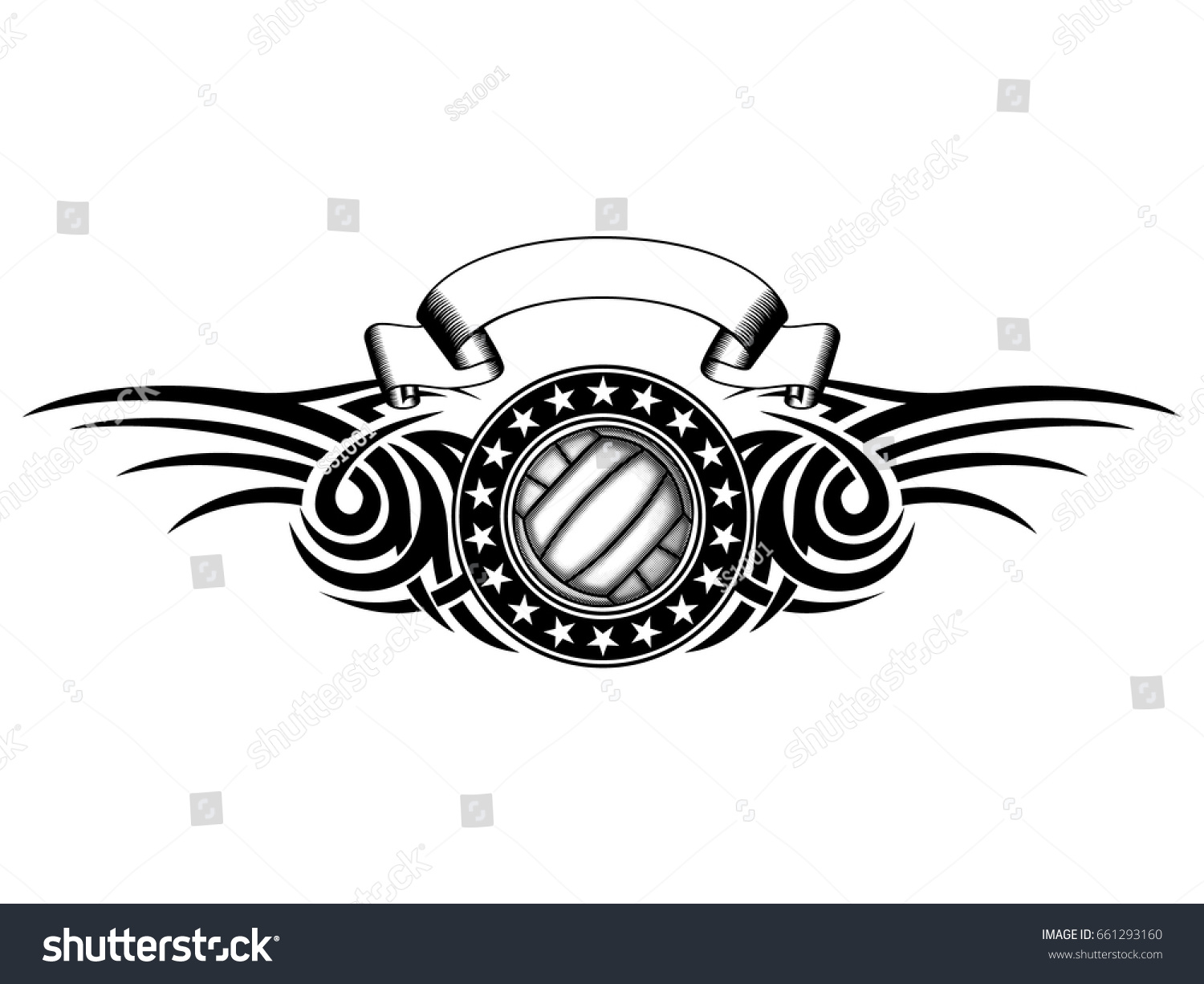 Volleyball Abstract Stock Photos Volleyball Abstract: Abstract Vector Illustration Black White Volleyball Stock