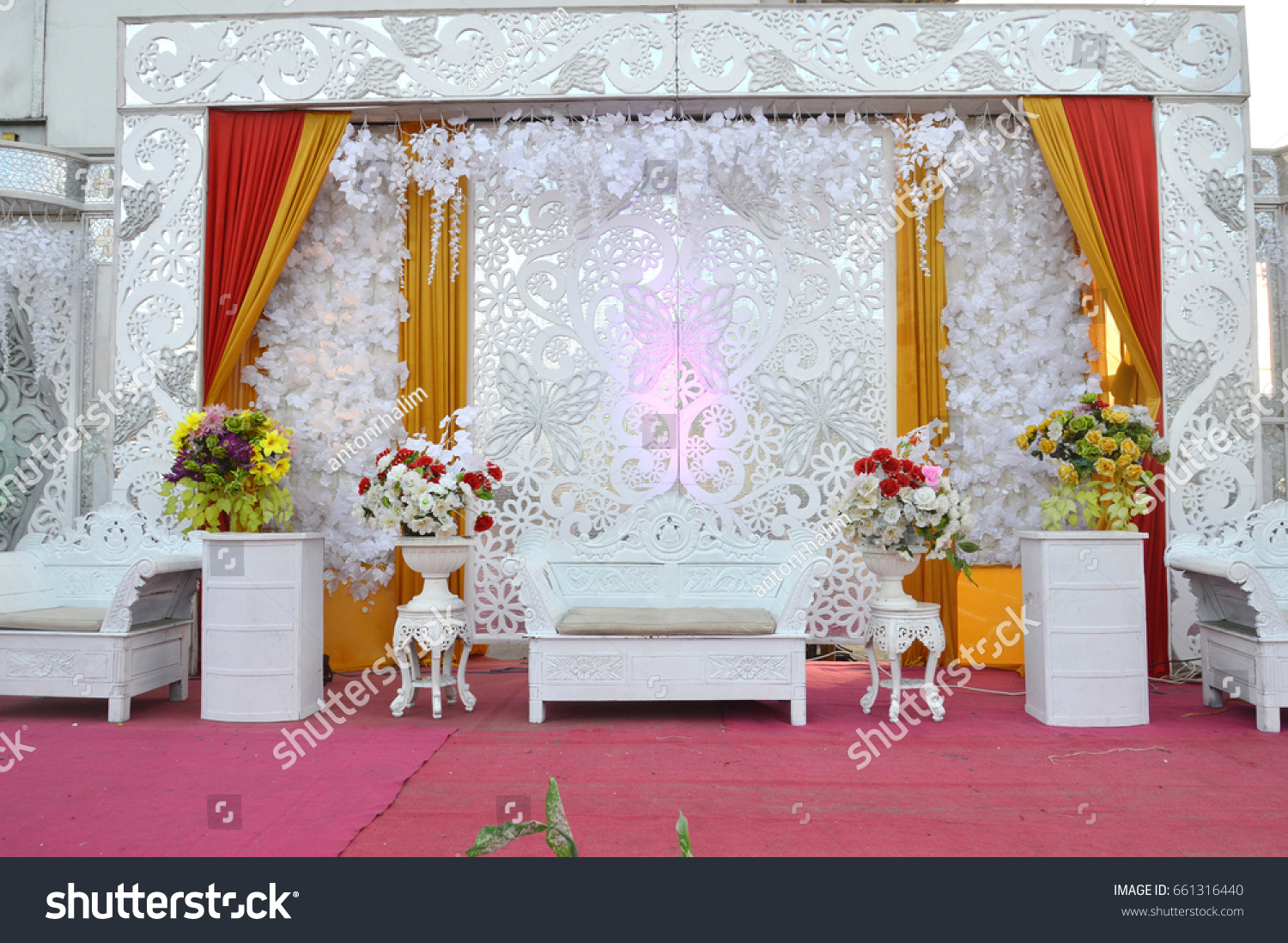 Bridal Wedding Stage Decoration Stock Photo Edit Now 661316440