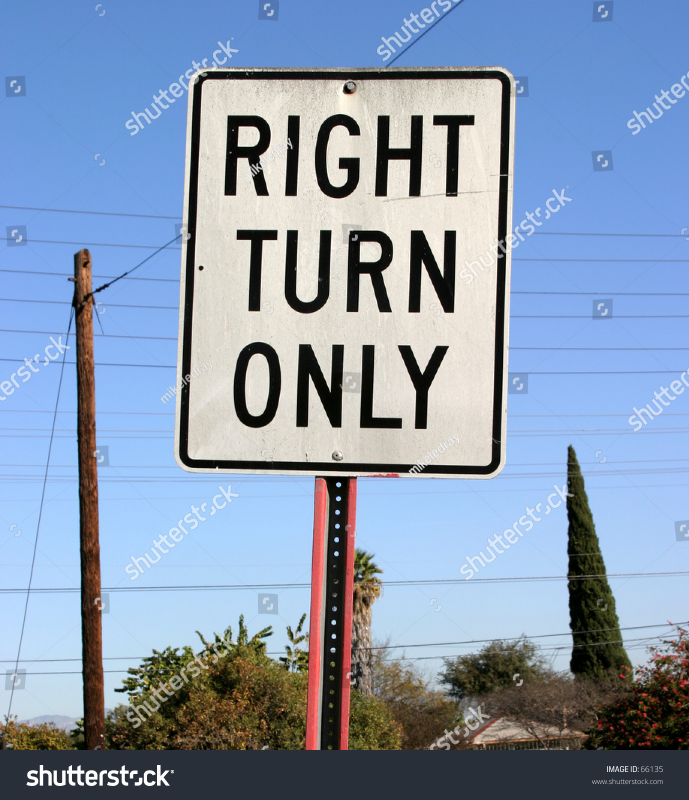 right turn only sign stock photo 66135 shutterstock