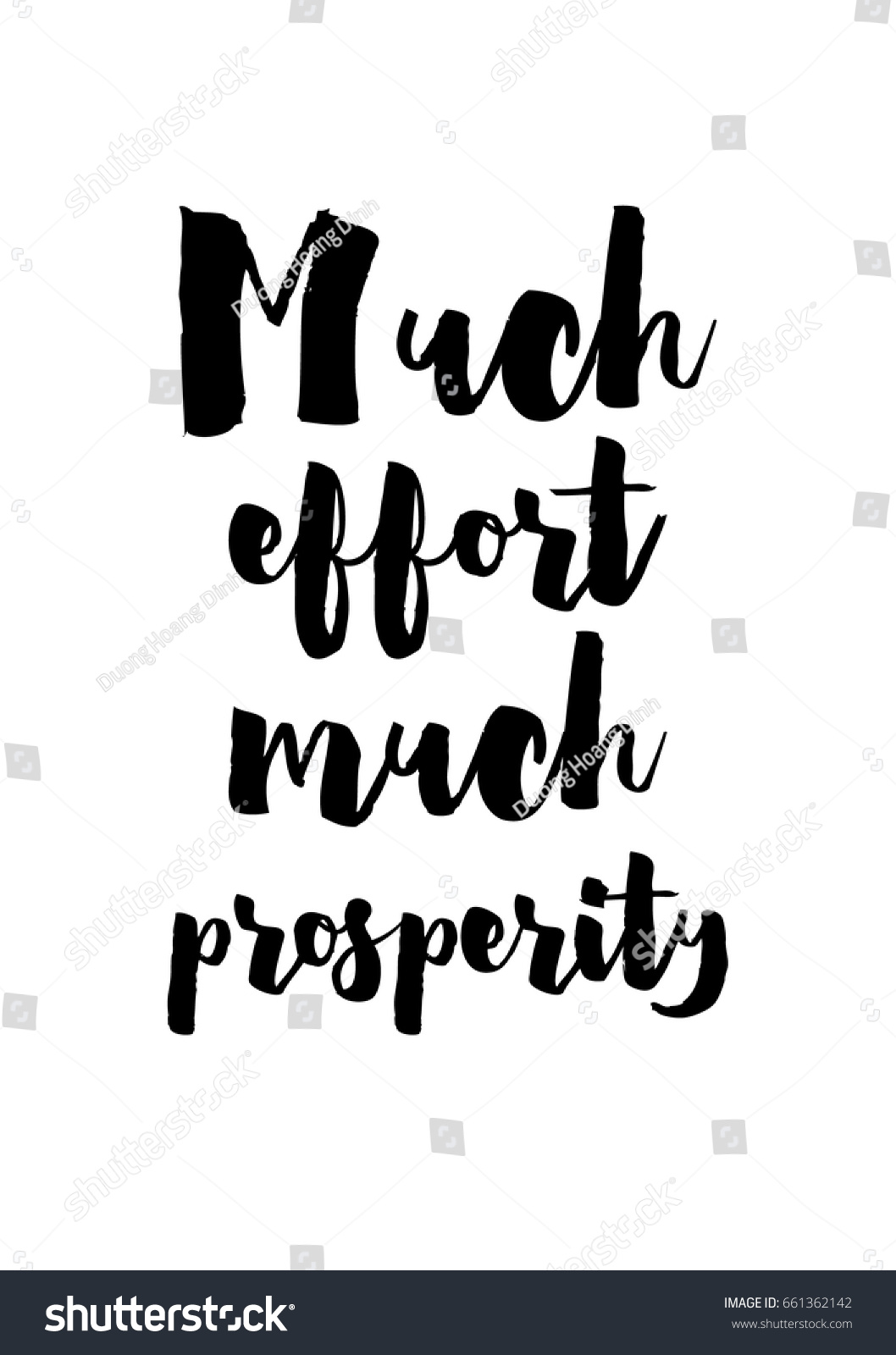 Quotes Effort Lettering Quotes Motivation About Life Quote Stock Vector