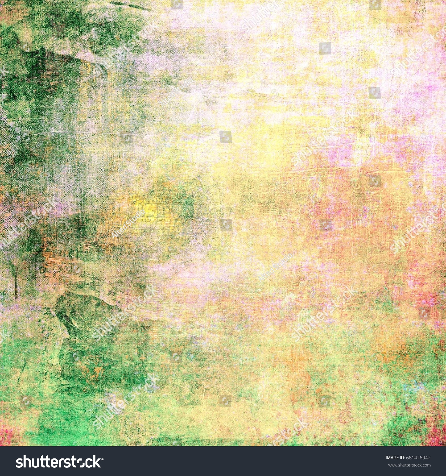 Green brown background. Abstract old grunge brown and green wall ...