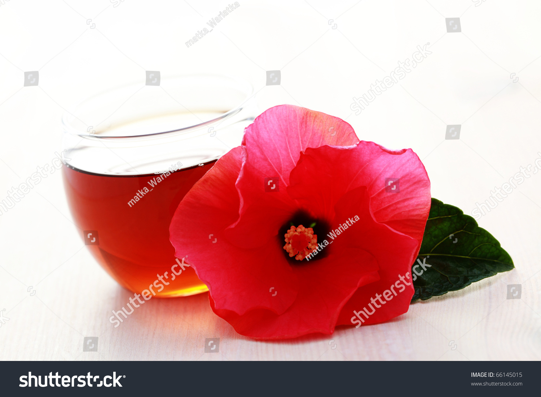 Glass hibiscus tea hibiscus flower tea stock photo edit now glass of hibiscus tea with hibiscus flower tea time izmirmasajfo