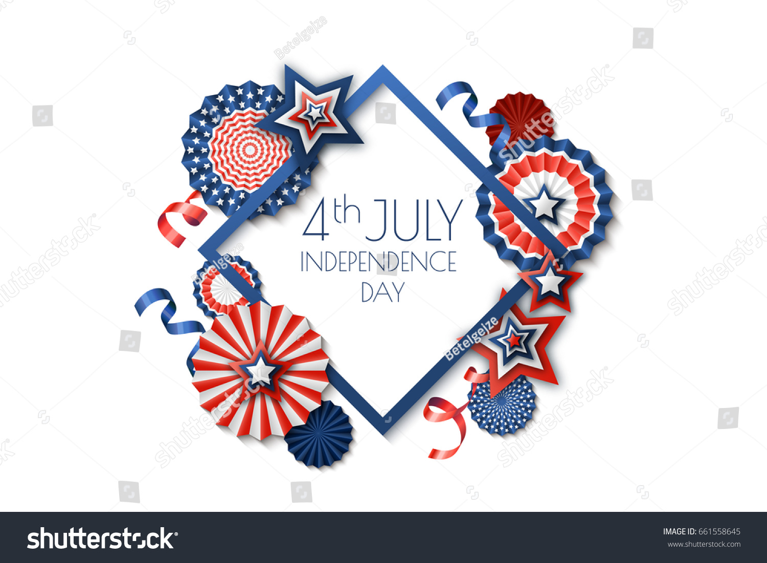 4th july usa independence day vector stock vector 661558645