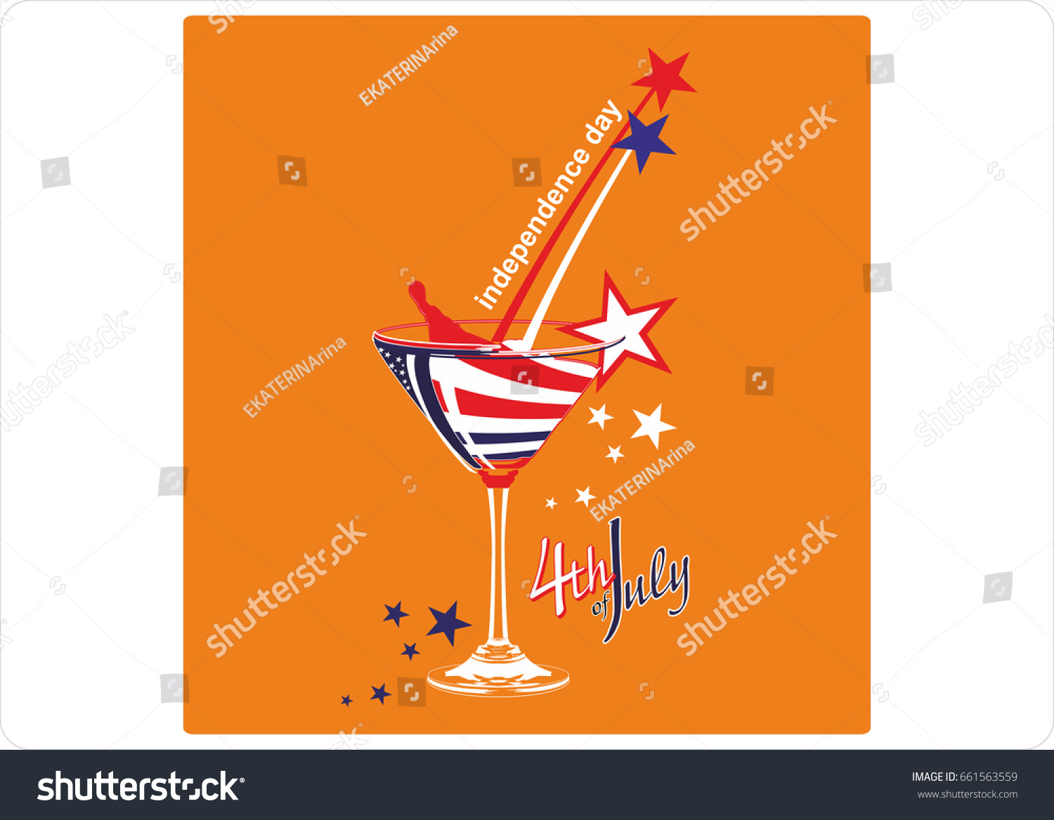 independence day usa stylish american independence day stock vector