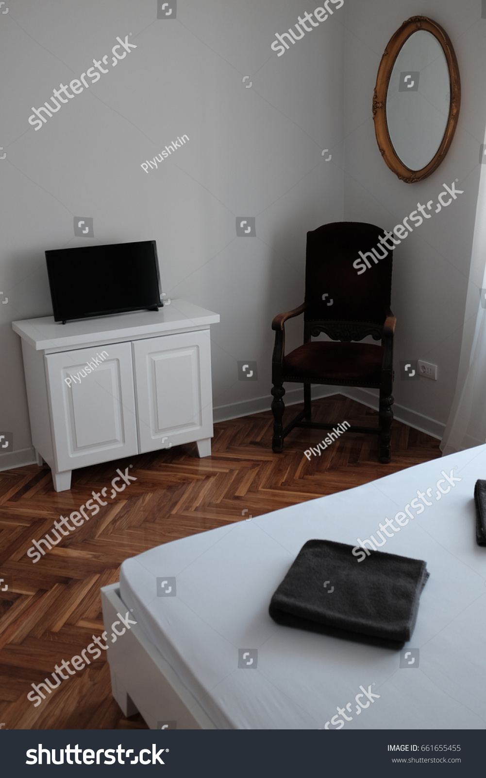 A Hotel Simply Cheap Bedroom Hotel Simply Made Stock Photo 661655455 Shutterstock