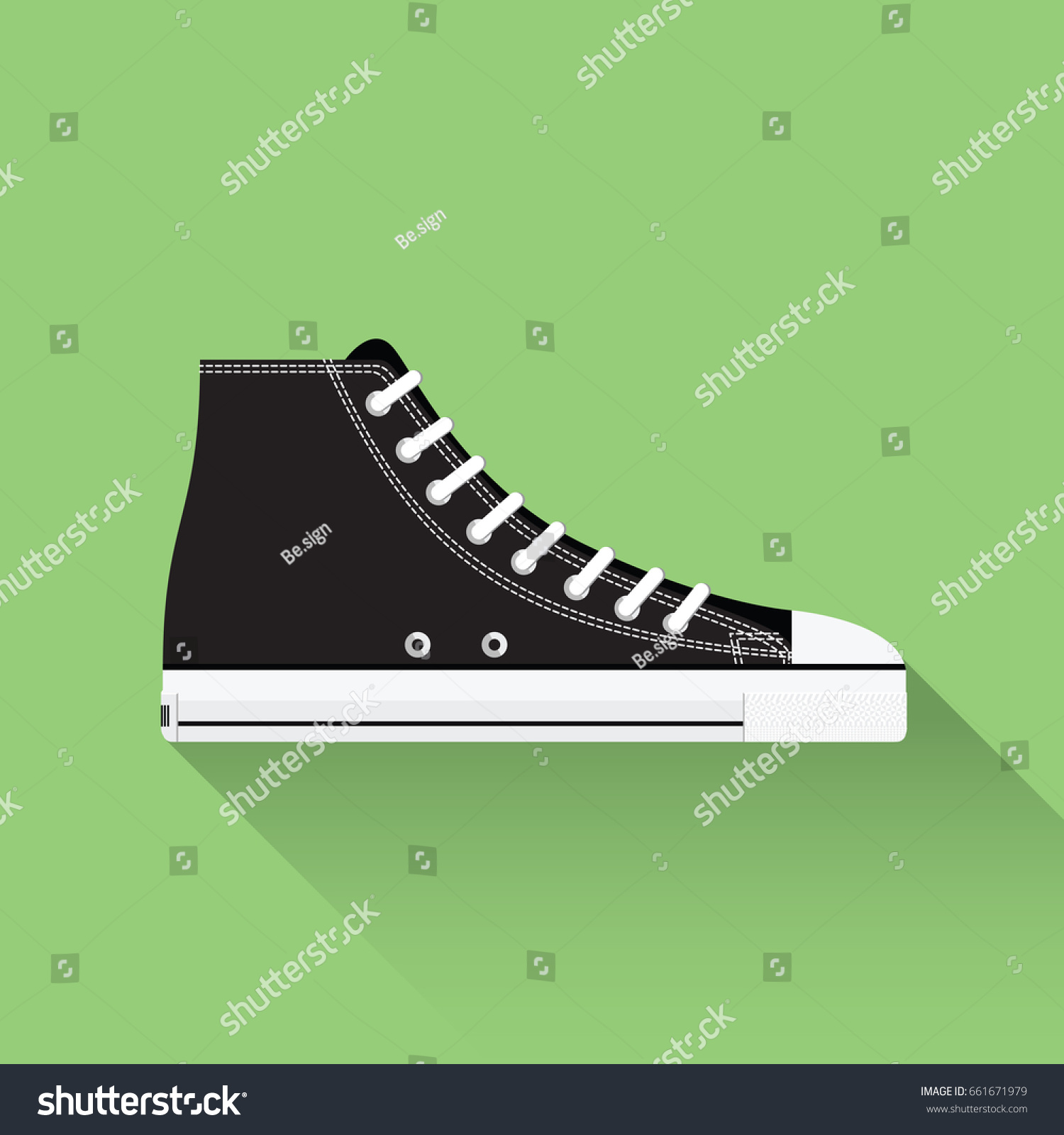 b7034abeee5b Converse All Star Vector Drawn Sport Stock Vector (Royalty Free ...
