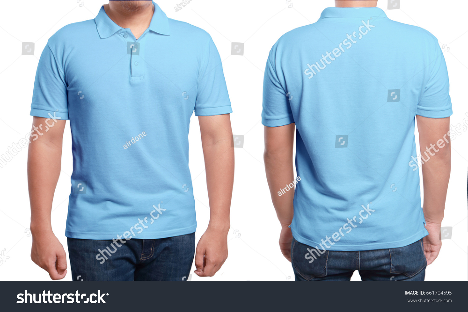 Blue Polo Tshirt Mock Up Front Stockfoto (Lizenzfrei) 661704595 ...