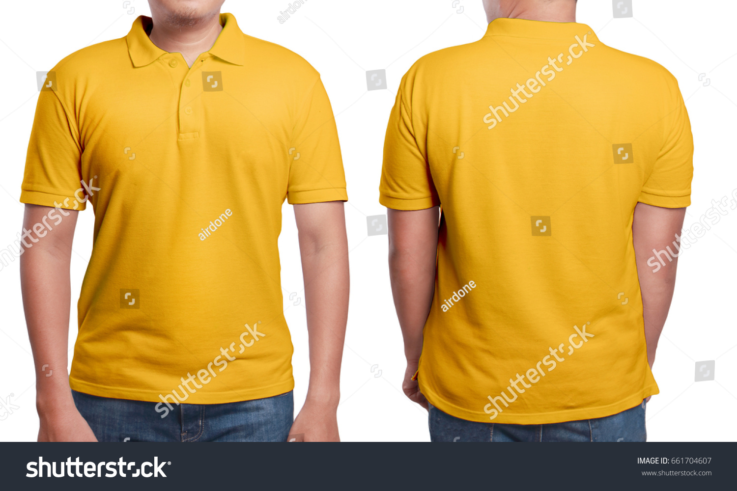 Orange Polo Tshirt Mock Up Front Stockfoto (Lizenzfrei) 661704607 ...