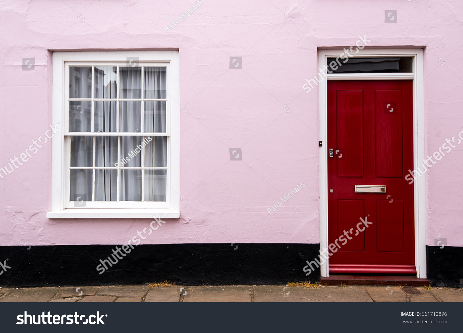 Traditional English House Front Entrance Red Stock Photo (Edit Now ...