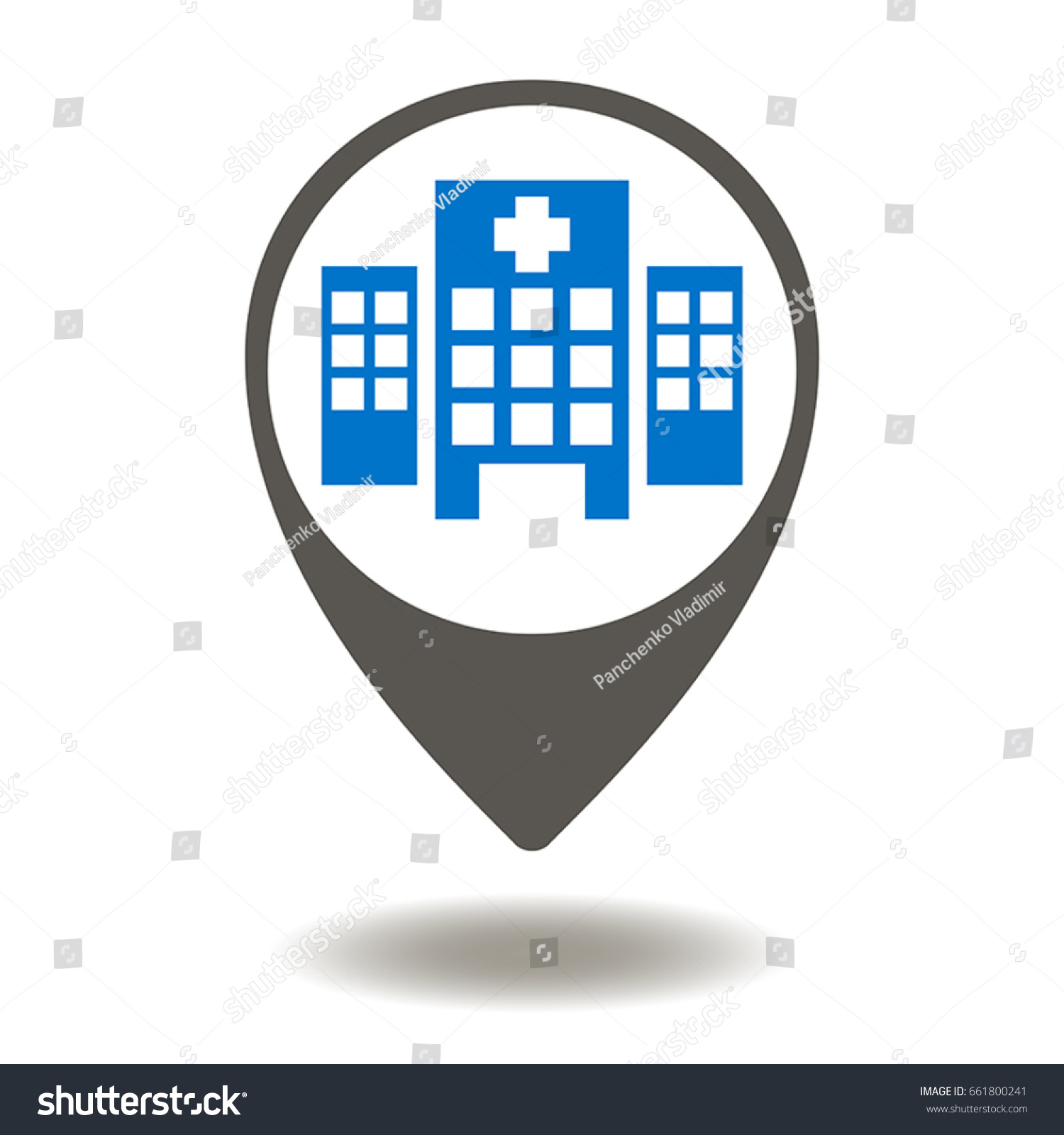 Hospital place vector icon medical clinic stock vector 661800241 hospital place vector icon medical clinic location illustration navigation medicine support help biocorpaavc