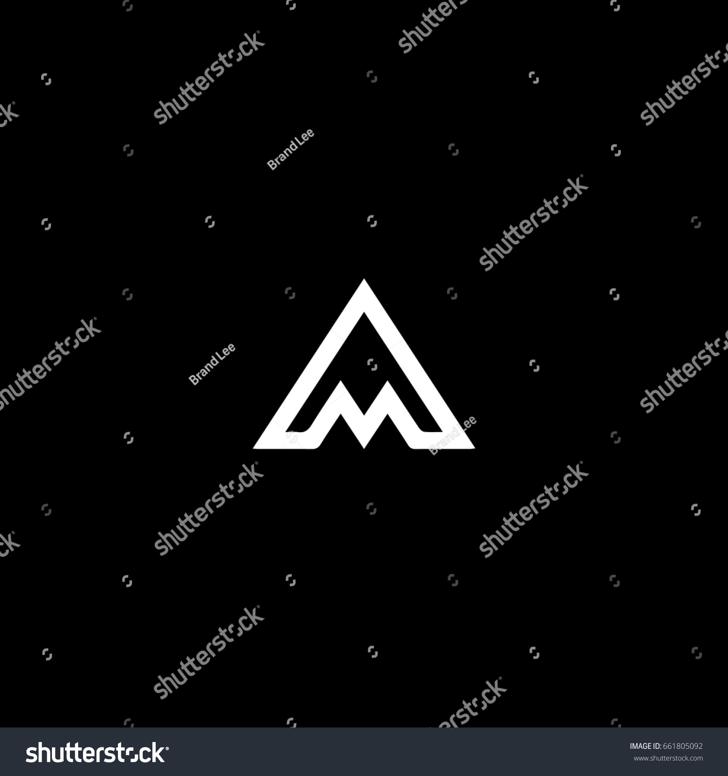 Creative Stylish Modern Trendy Connected Mountain Stock Vector ...