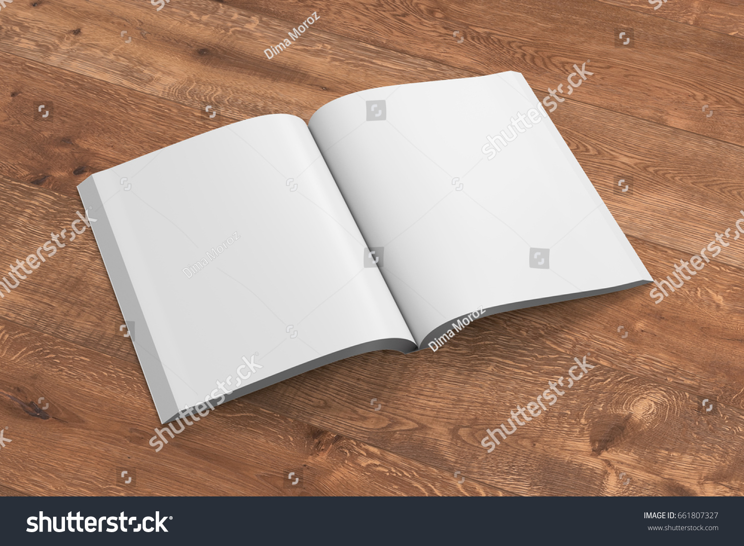 Glossy Book Cover Paper ~ Blank pages open portrait soft cover stock illustration