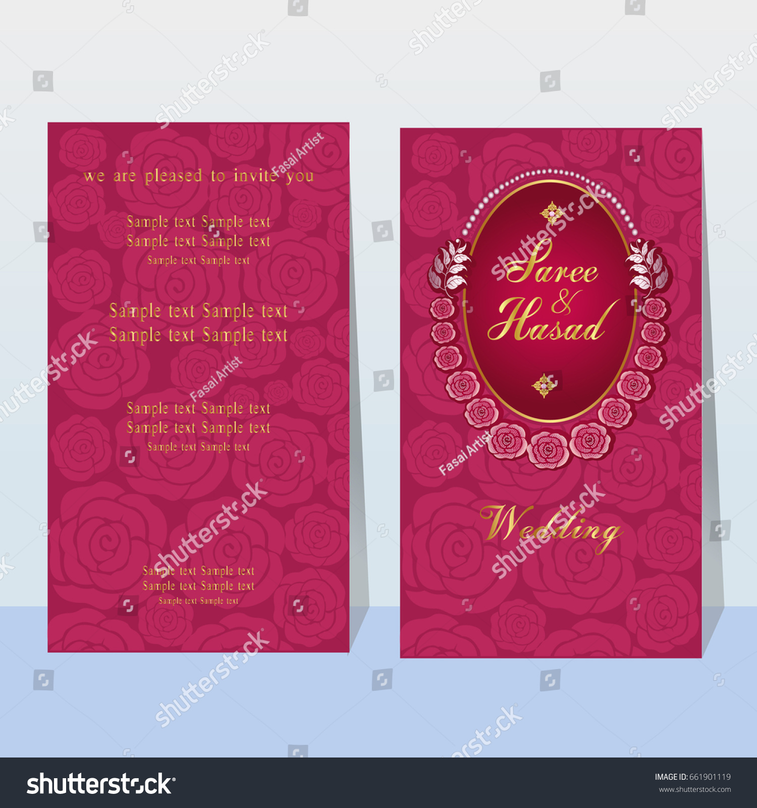 Indian Wedding Invitation Card Abstract Background Template Stock ...