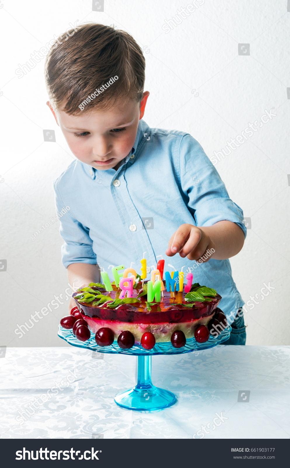 Miraculous Little Boy Birthday Cake Stock Photo Edit Now 661903177 Personalised Birthday Cards Veneteletsinfo