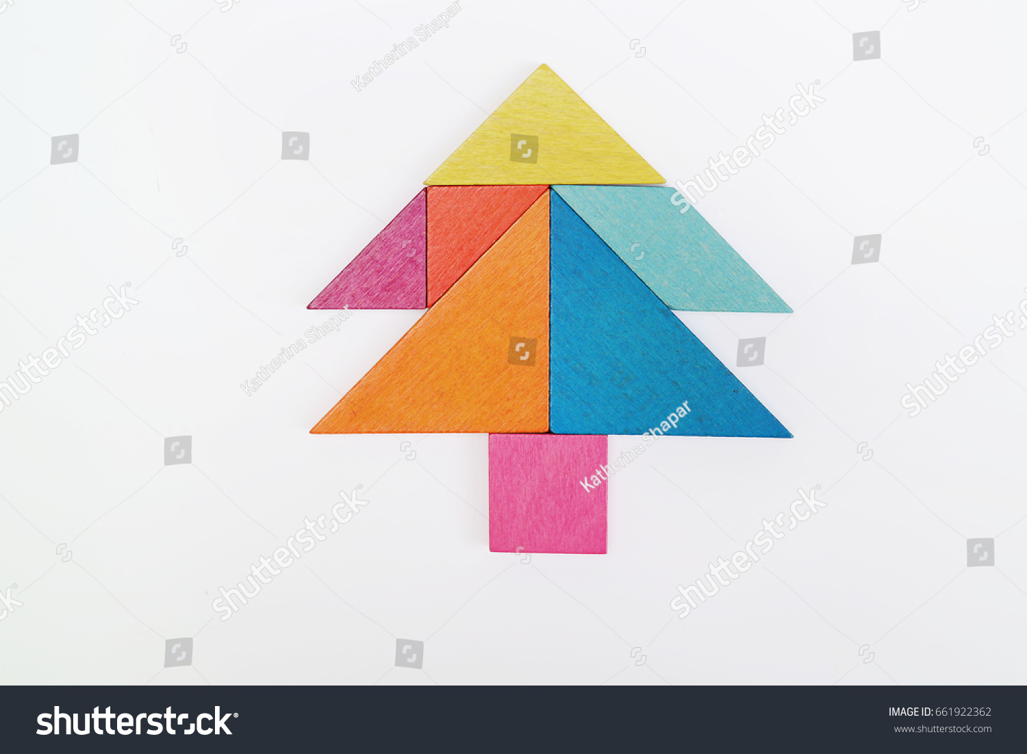 tangram fir tree