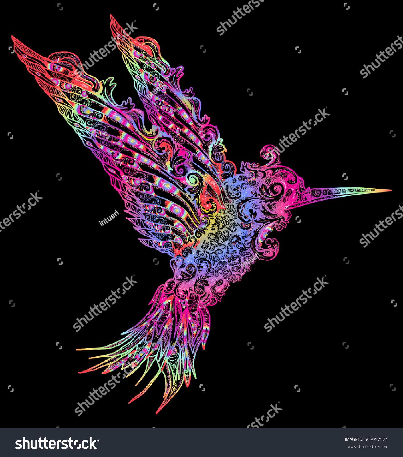 Color hummingbird tshirt design symbol freedom stock vector color humming bird t shirt design symbol of freedom dream travel biocorpaavc Images