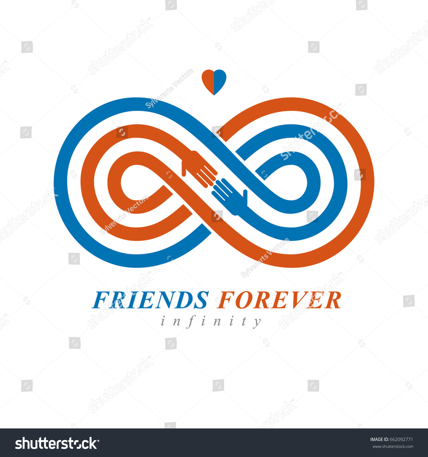 Infinity Sign Two Hands Touching Each Stock Vector Hd Royalty Free