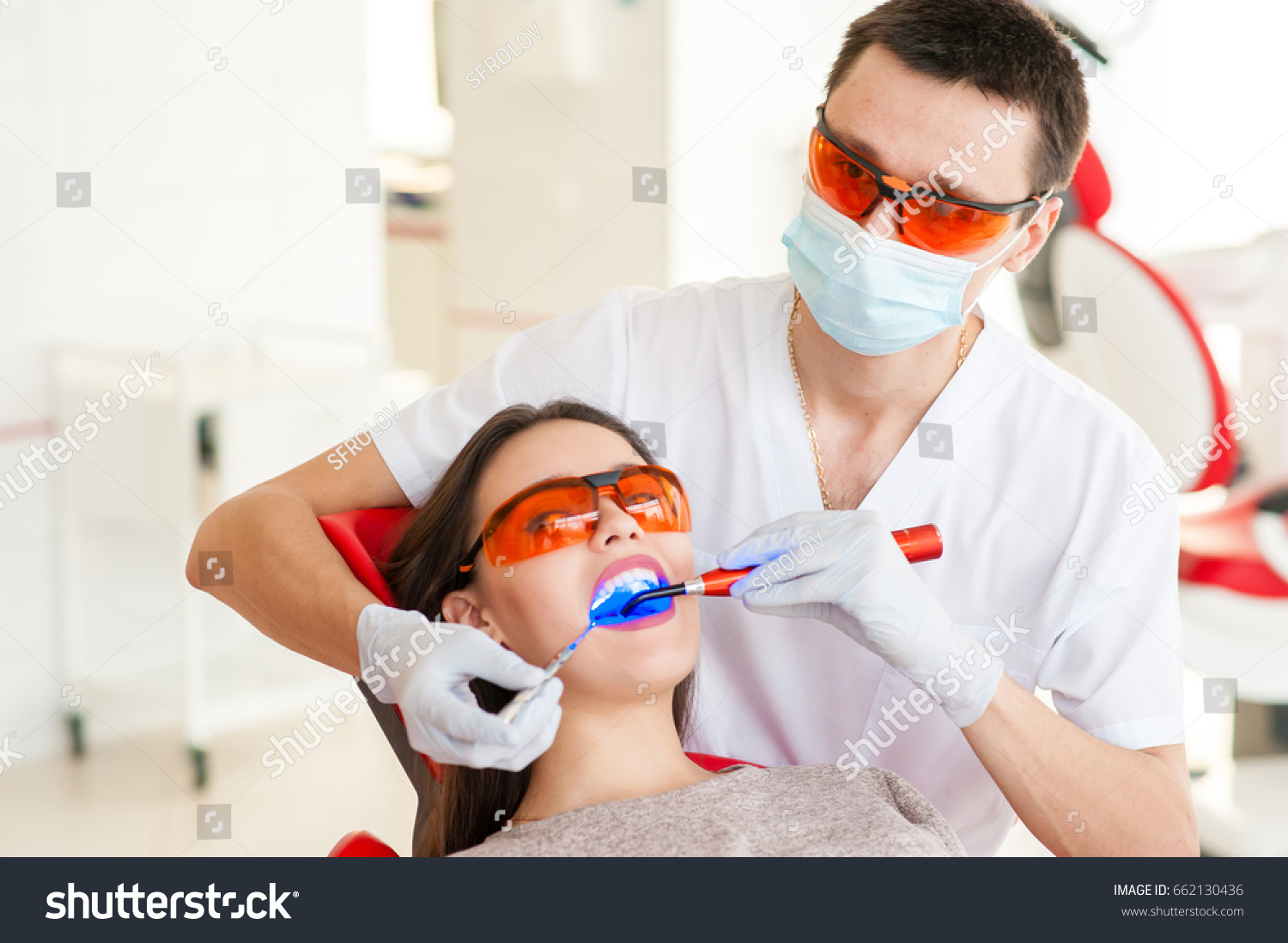 Treatment Caries Modern Medicine Stomatology Stock Photo (Edit Now
