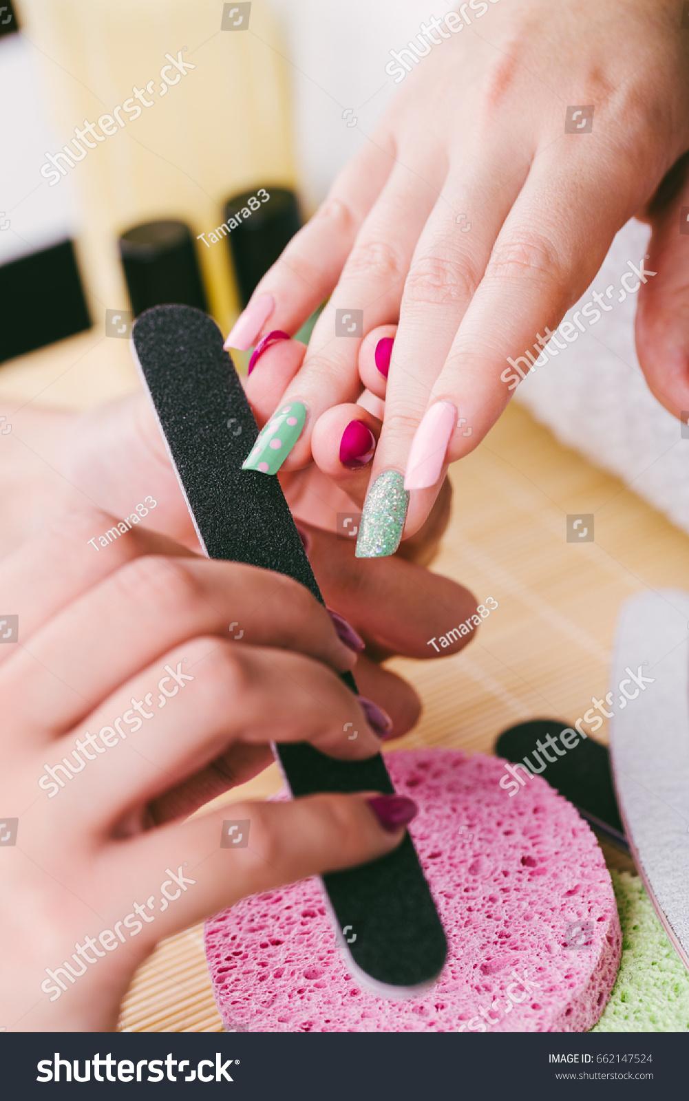 Manicure Beauty Treatment Photo Nice Manicured Stock Photo (Royalty ...