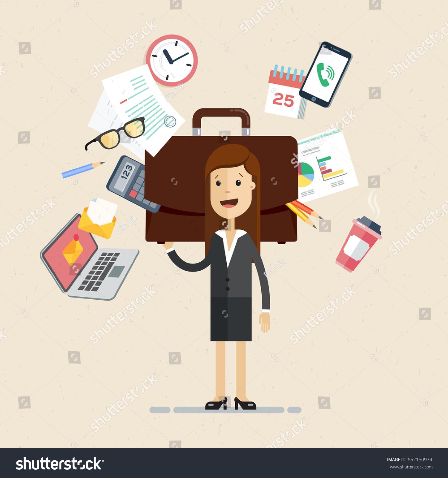 Dia Del Trabajador Mujeres vector de stock (libre de regalías) sobre día de trabajo de