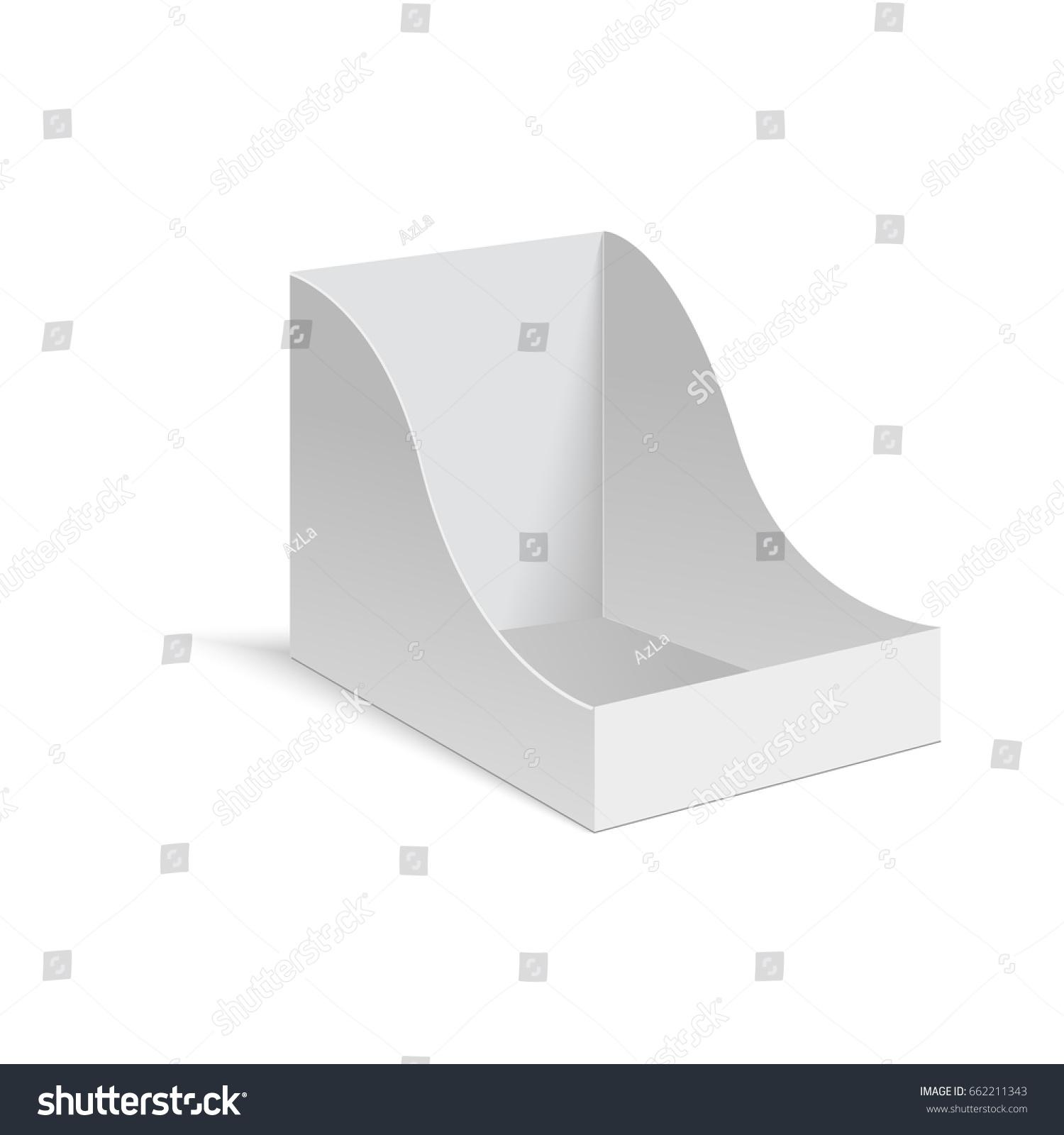 pos poi cardboard blank empty display stock vector