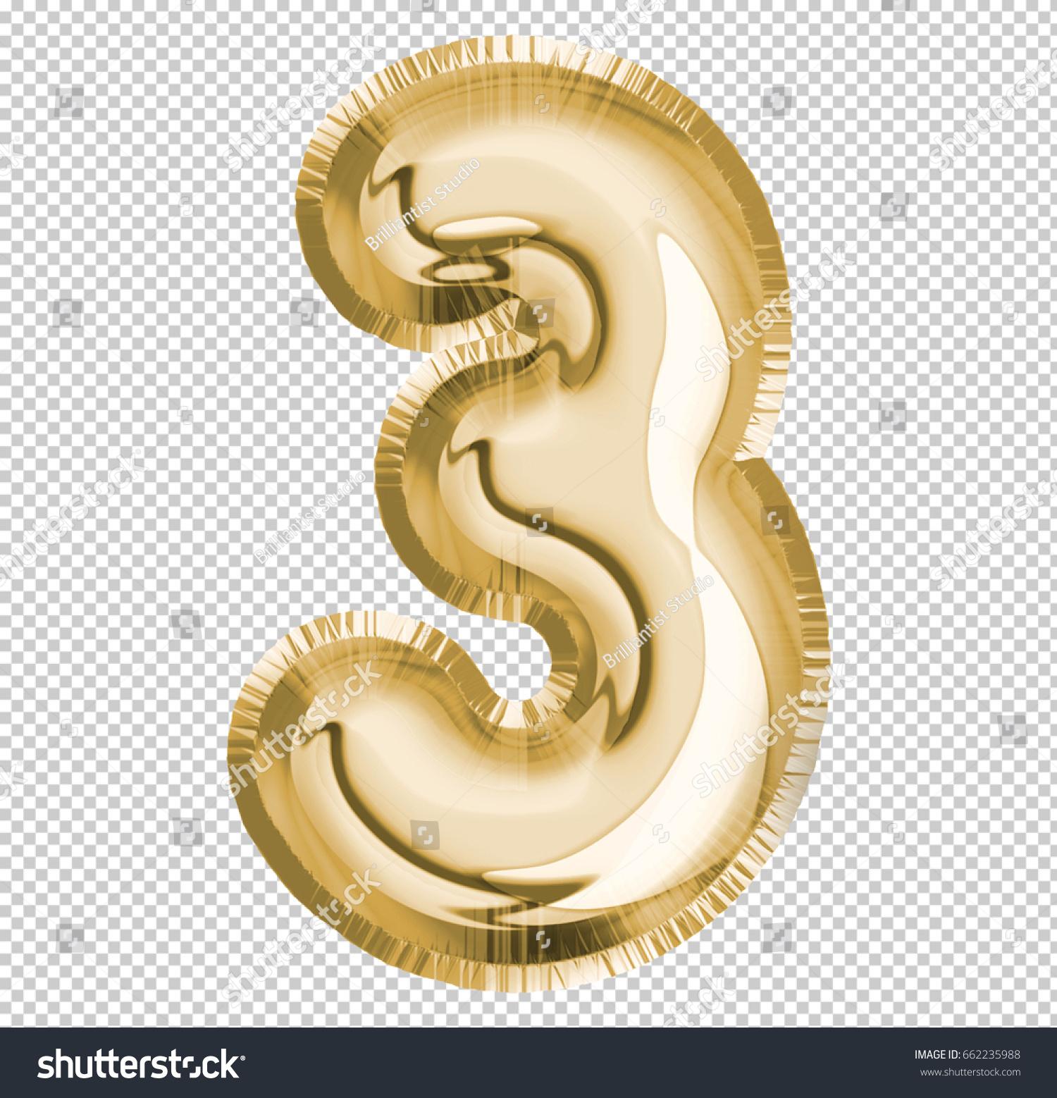 Brilliant Number Three 3 Letter Alphabet Stock Illustration ...