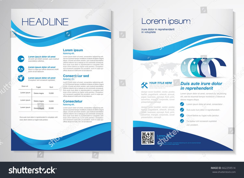 Template Vector Design Brochure Annual Report Image vectorielle de ...
