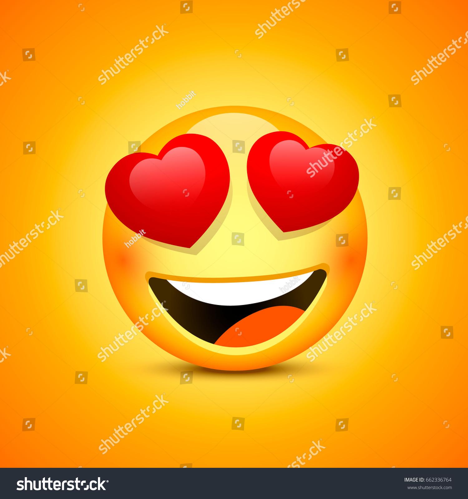Smiling Face Emotions Love Happy Eyes Vectores En Stock ...