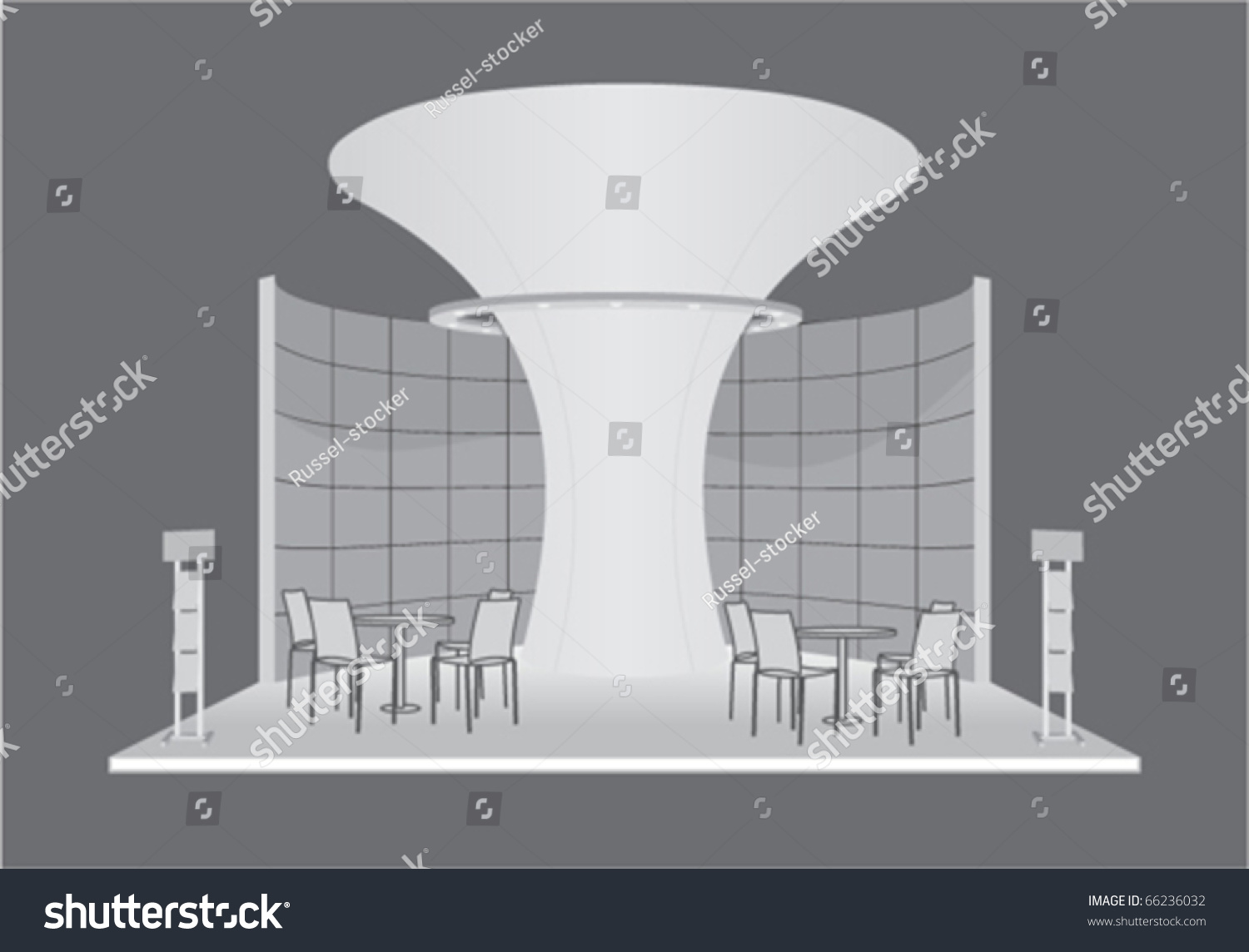 Simple Exhibition Stand Vector : Vector exhibition stand d  shutterstock