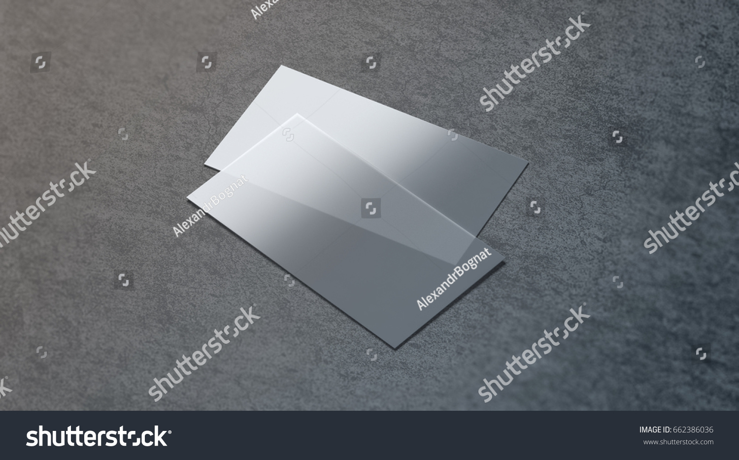 Blank Plastic Transparent Business Card Mock Stock Illustration ...