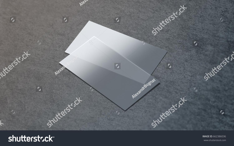 Blank Plastic Transparent Business Card Mock Stock Illustration ...