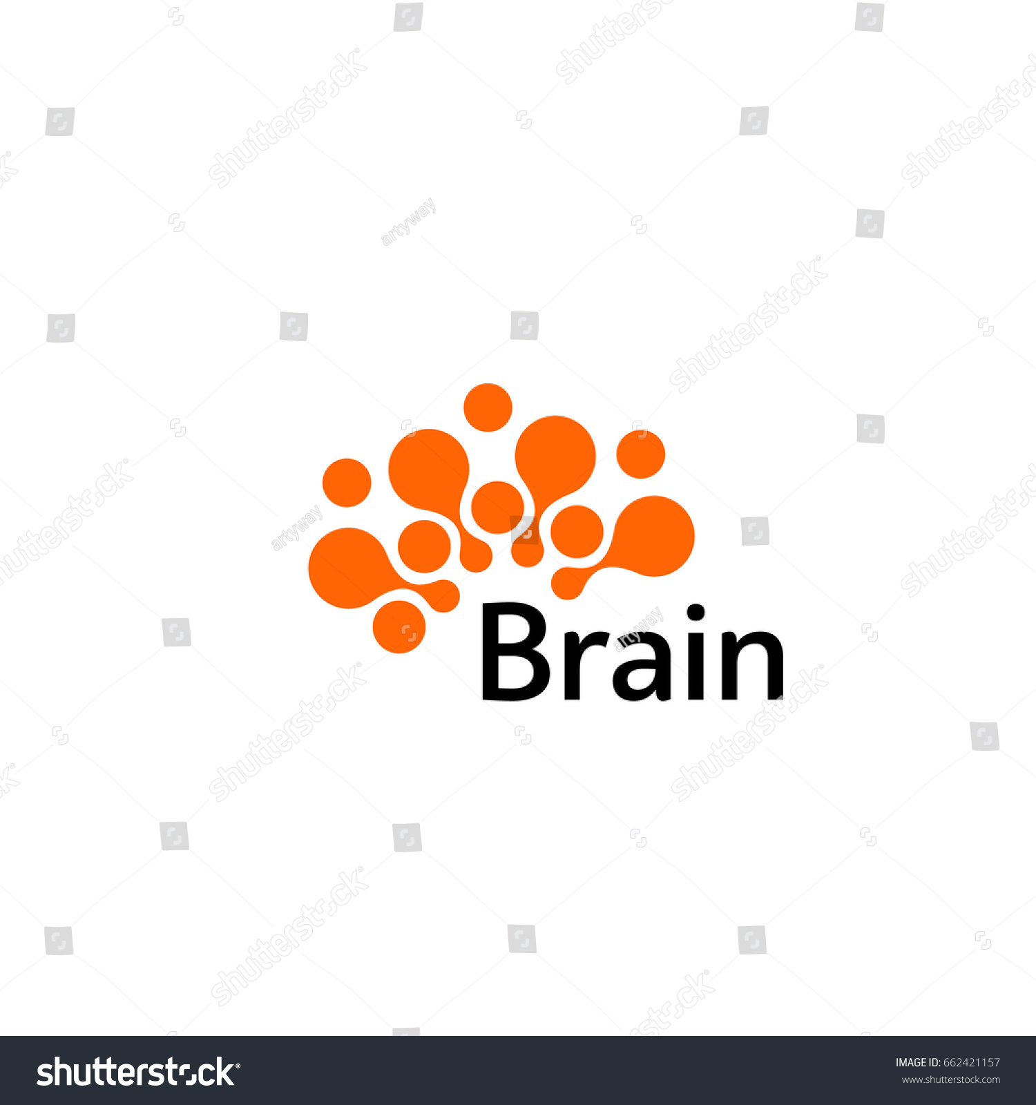 Brain Logo silhouette design vector template. Think idea concept.Brain storm power thinking brain Logotype icon  #662421157