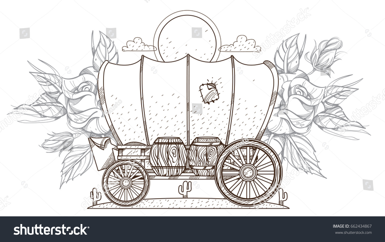 Covered wagon coloring page free - a-k-b.info
