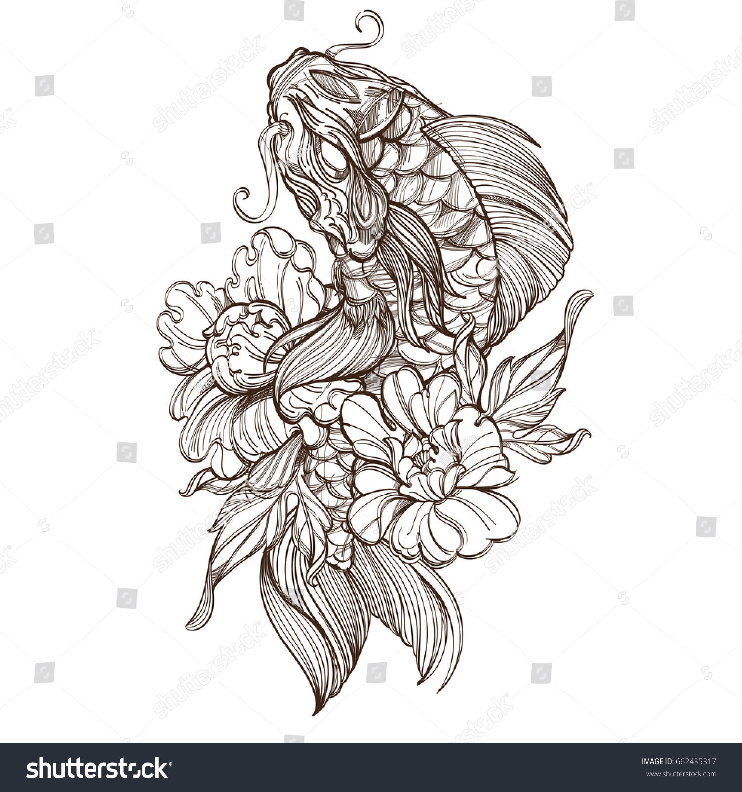 Koi Coloring Pages Gallery Koi Fish Coloring Page Group 57 ... | 1600x1500