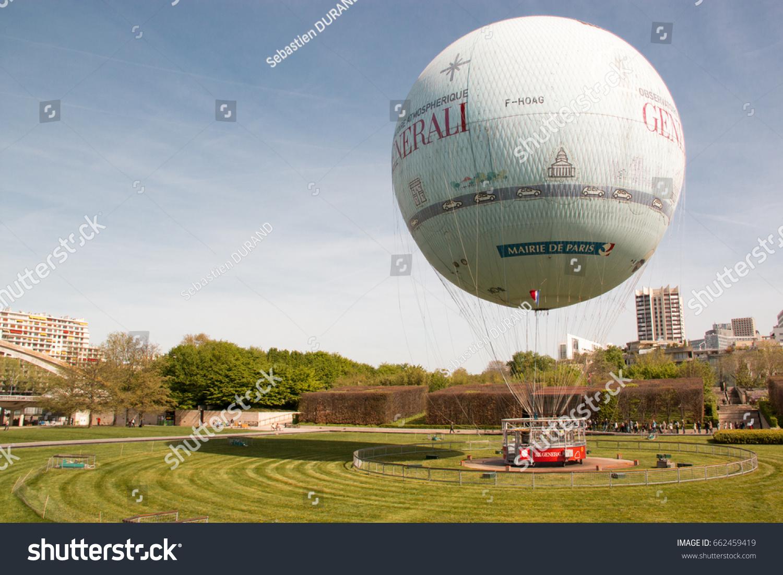 Hot Air Balloon Paris Wishing Fly Stock Photo 662459419 - Shutterstock