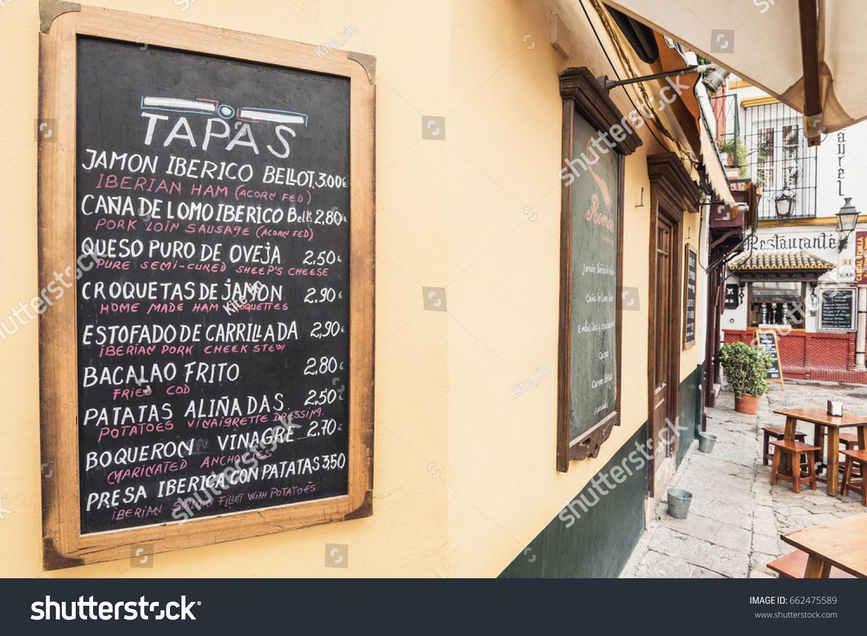 Seville Spain April 24 Tapas Bar Stock Photo Edit Now 662475589