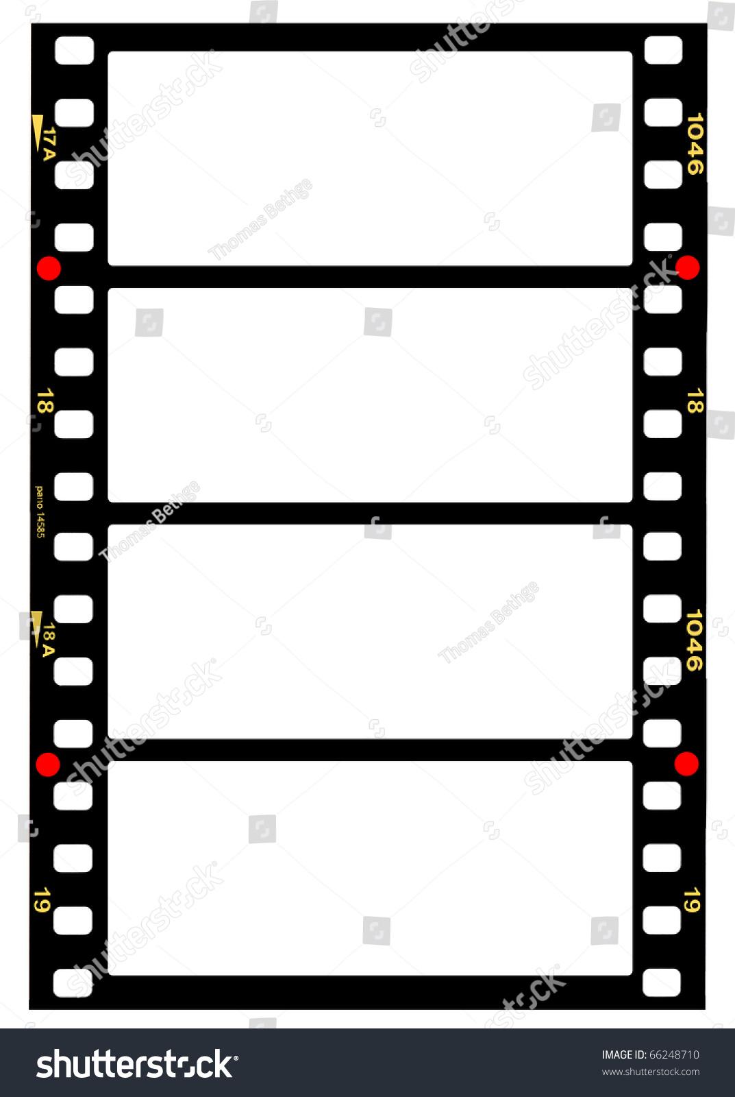 35 Mm Panorama Format Filmstripblank Frames Stock Photo (Royalty ...