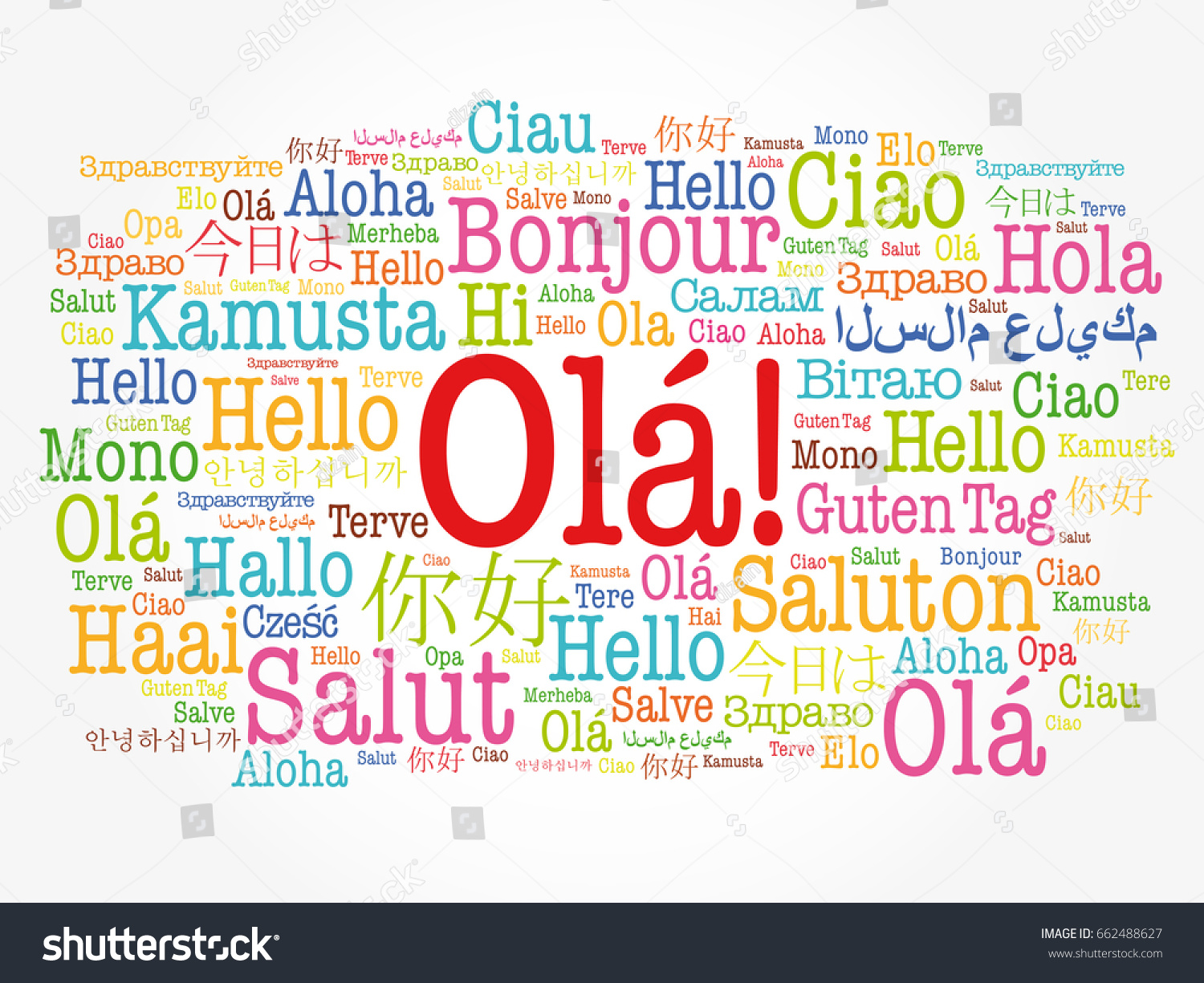Ola hello greeting portuguese word cloud stock vector 662488627 ola hello greeting in portuguese word cloud in different languages of the world kristyandbryce Image collections