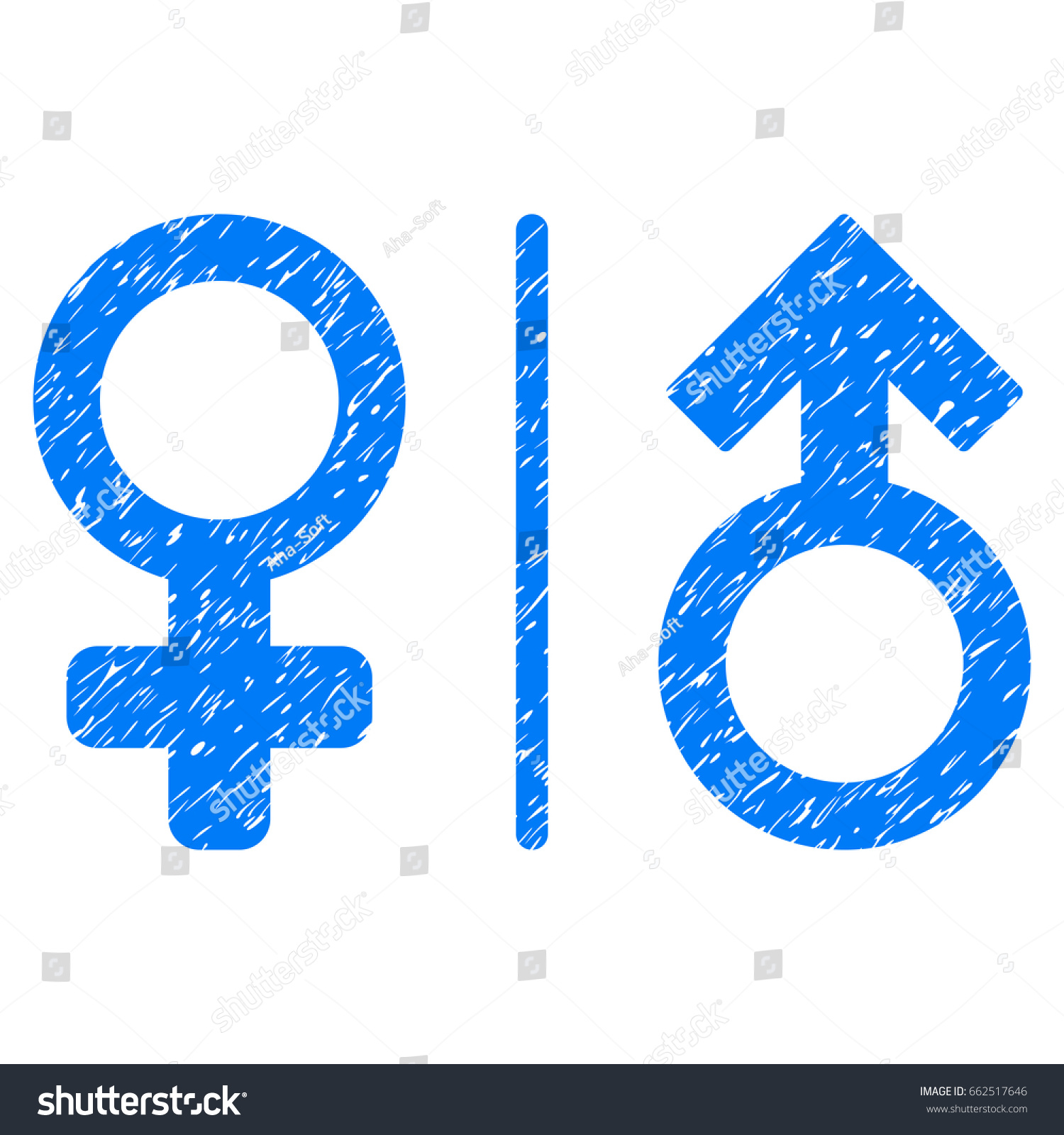 Grunge wc gender symbols icon grunge stock vector 662517646 grunge wc gender symbols icon with grunge design and dirty texture unclean vector blue pictogram buycottarizona Choice Image