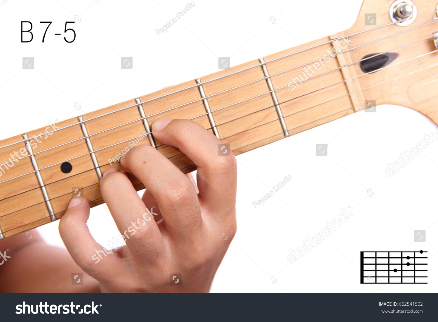 B 75 Advanced Guitar Keys Series Closeup Stock Photo Edit Now