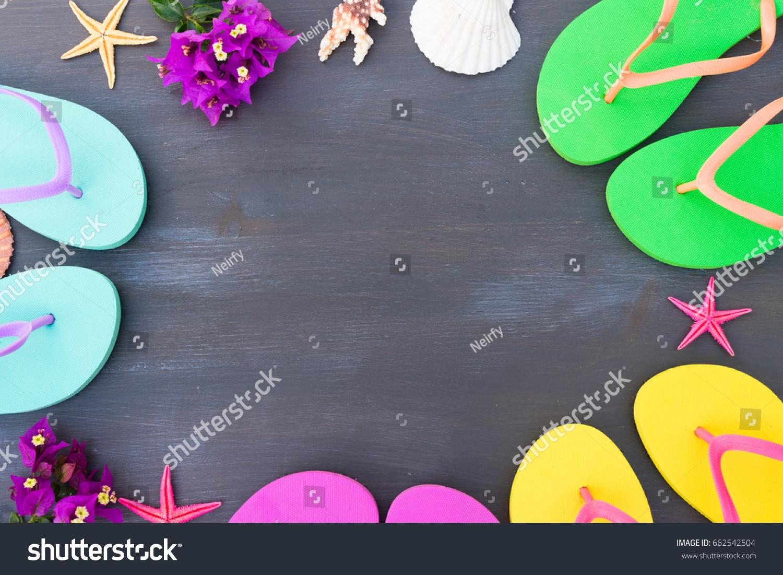 Summer Beach Fun Frame Flip Flop Stock Photo (Edit Now)- Shutterstock