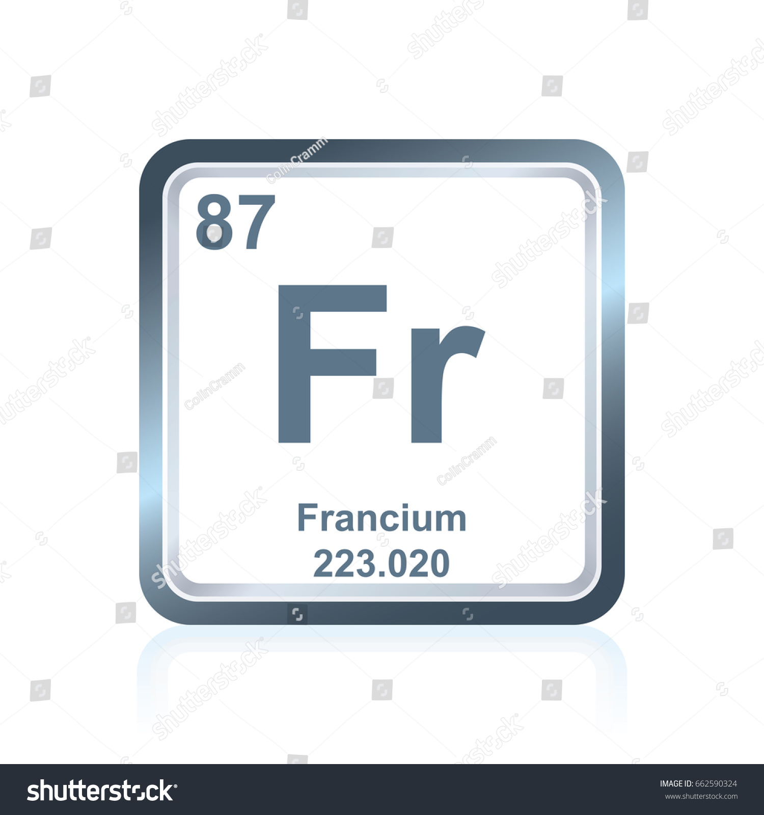Symbol Chemical Element Francium Seen On Stock Vector Royalty Free